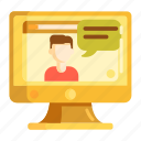 feedback, online, online testimonials, review, testimonials icon