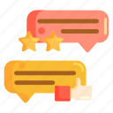 comment, feedback, rating, review, testimonials icon