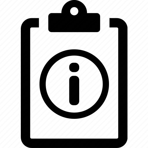 clipboard, info, information, poll, questionnaire, survey icon