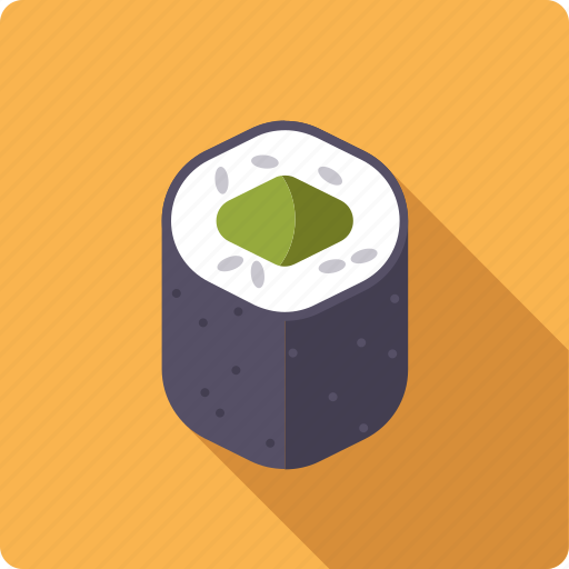 avocado, food, japan, rice, roll, seafood, sushi icon