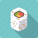 california, food, japan, rice, roll, seafood, sushi icon