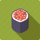 caviar, food, japan, rice, roll, seafood, sushi icon