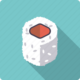 food, inside out, japan, rice, roll, seafood, sushi icon