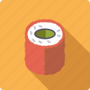 food, japan, rice, roll, salmon, seafood, sushi icon