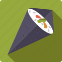 food, japan, rice, seafood, seaweed, sushi, wrap icon