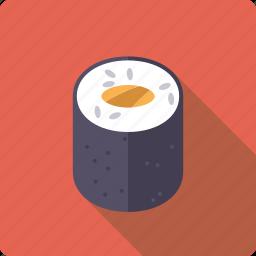 food, japan, rice, roll, salmon, seafood, sushi icon