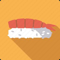 food, japan, nigirl, rice, seafood, shrimp, sushi icon