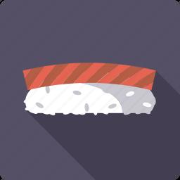 food, japan, nigirl, rice, seafood, sushi, tuna icon