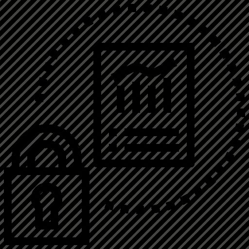 data, information, intellectual, proprietary, protect icon