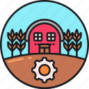 agricultural, agriculture, barn, farm, farmhouse, farming, productivity icon