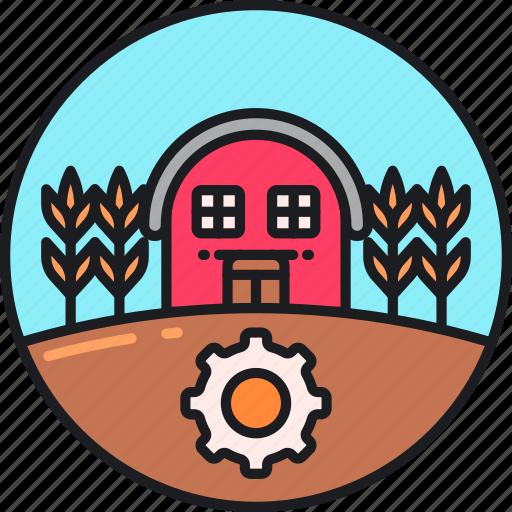 agricultural, agriculture, barn, farm, farmhouse, farming, productivity icon