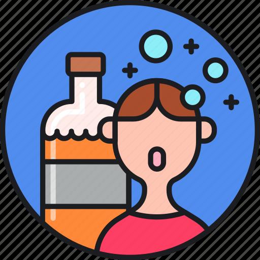 abuse, addiction, alcohol, alcoholic, alcoholism, drinking, rehab icon