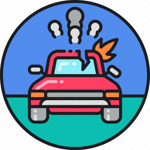 accident, automobile, car, collision, insurance, motor vehicle collision, traffic icon