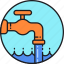 clean, faucet, pipeline, plant, treatment, wastewater, water icon