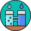 consumption, desalination, mineral, removal, salt, treatment, water icon