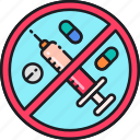 abuse, drug, drugs, ecstasy, illegal, pills, substance icon