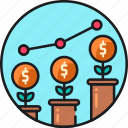 business, chart, economics, economy, graph, growth, statistics icon
