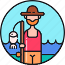 fish, fish farmer, fisher, fisherman, fishing, fishmonger icon