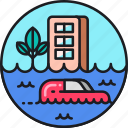 flash, flash flood, flood, flooded, flooding icon