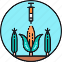 artificial, corn, genetic, genetically modified organism, gmo, injection, material icon