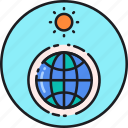 atmosphere, earth, effect, greenhouse, planet, radiation, sun icon