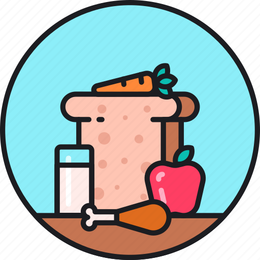 balanced, diet, food, healthy, lifestyle, meal, recipe icon