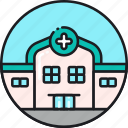 building, clinic, doctor, emergency, health, healthcare, hospital icon