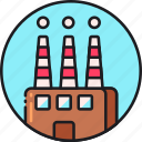 factory, industrial, industry, infrastructure, innovation, manufacturing, production icon