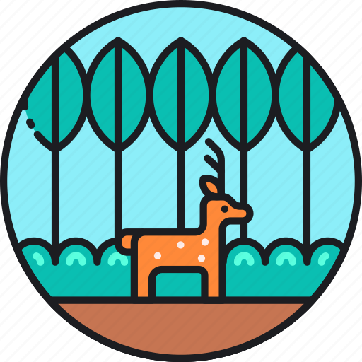 animal, deer, land, life, nature, on, wildlife icon
