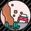 avalanche, collapse, earthquake, landslide, landslip, rockfall, rockfalls icon