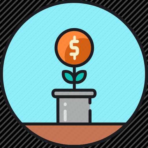 active, finance, growth, income, microfinance, money, passive icon