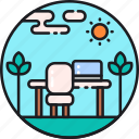 design, office, open, open office, space, transparency, transparent icon