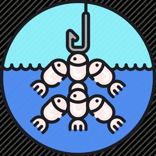 ecosystem, fish, marine, ocean, overfishing, stocks, threat icon