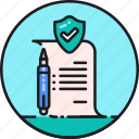 act, code, contract, law, policy, procedure, regulation icon