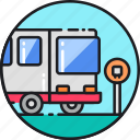 bus, coach, metro, public, transport, transportation, travel icon