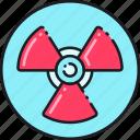 warning, radiation, caution, attention, sign, alert, danger