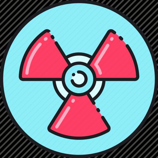 alert, attention, caution, danger, radiation, sign, warning icon