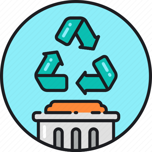ecology, environment, garbage, green, recycle, recycling, trash icon
