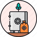 bank, breed, genetic, plant, preservation, seed, seedbank icon