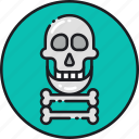 crossbones, dead, death, mortality, skeleton, skull, totenkopf icon