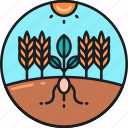 agricultural, agriculture, ecosystem, farm, farming, quality, soil icon
