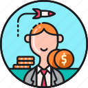 budget, business, capital, dollar, funding, money, startup icon