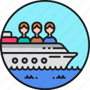 boat, cruise, sea, ship, shipping, trafficking, vessel icon