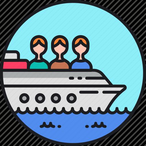 boat, cruise, sea, ship, shipping, trafficking, vessel icon