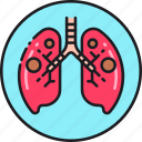 bacteria, disease, infection, lungs, pneumonia, tb, tuberculosis icon