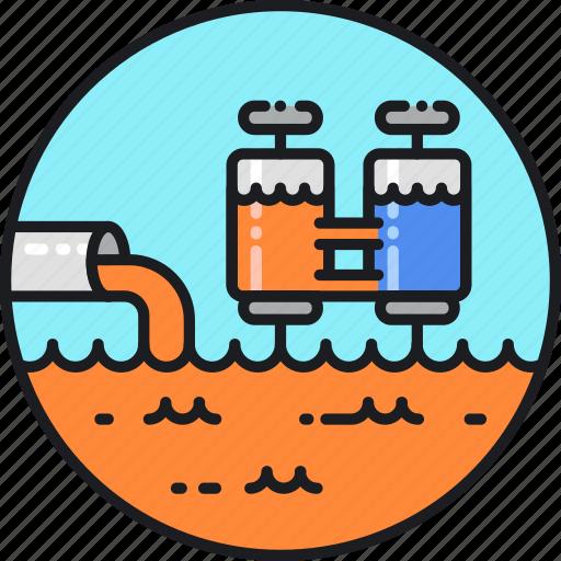 management, plant, sewage, sludge, treatment, wastewater, water icon