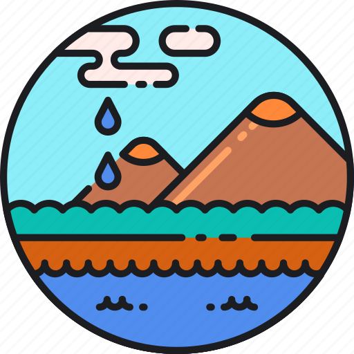 aquatic, ecosystem, environment, freshwater, landscape, marine, water icon