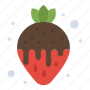 dessert, fondue, food, strawberry