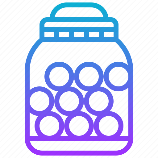 bottle, candy, jar, sweet, toffy icon