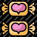 candy, dessert, food, lollies, sugar, sweet, valentine icon
